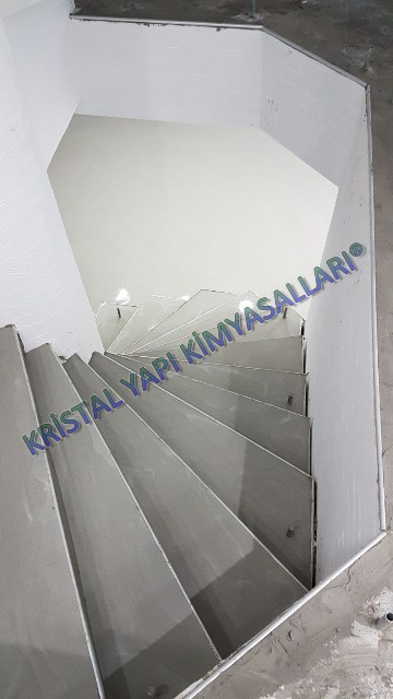 Mikro beton merdiven uygulaması