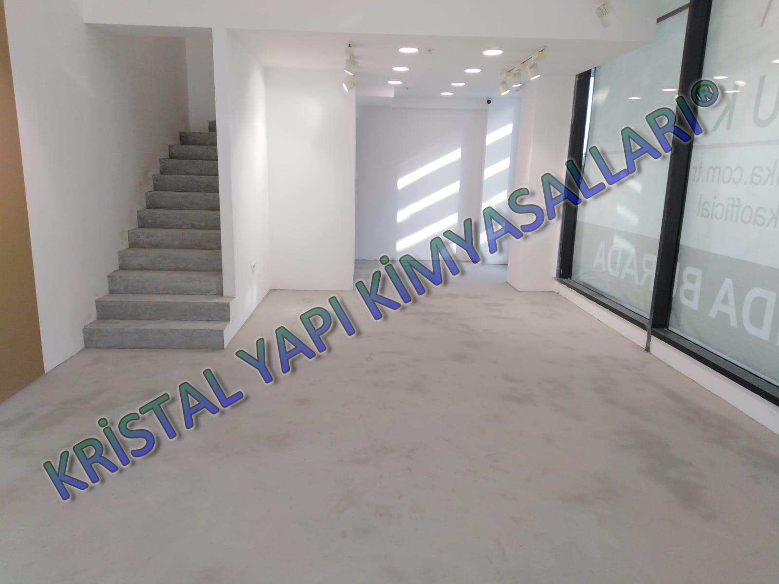 Beton görünümlü dekoratif kaplama, dekoratif merdiven kaplama, mikro beton merdiven kaplaması