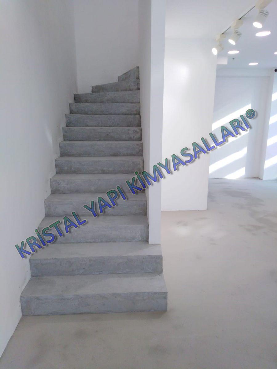 kristal wall dekoratif merdiven kaplaması, beton görünümlü kaplamalar, dekoratif beton kaplama